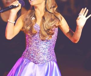 ariana grande, dress, and purple image