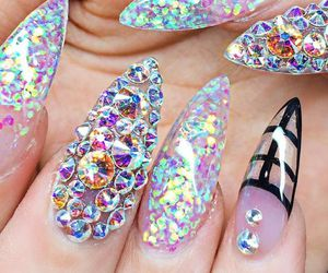 beauty, nails, and nail image