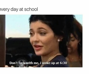 funny, school, and kylie jenner image
