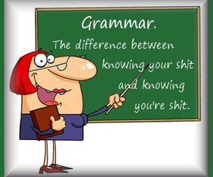 funny, grammar, and quote image