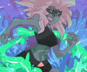 art, malachite, and steven universe image