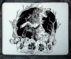 art, nature, and black and white image