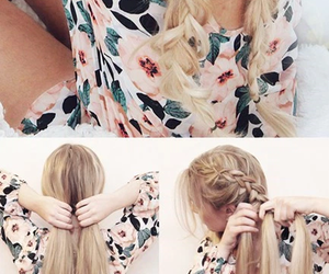 hair, style, and cabello image