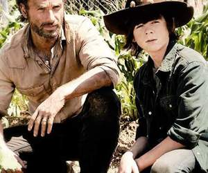 the walking dead, chandler riggs, and andrew lincoln image