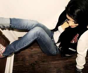 girl, awesome, and black hair image