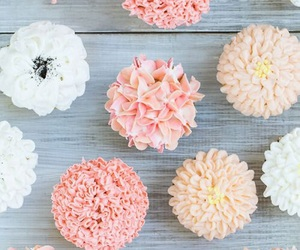 flowers, cupcake, and dessert image