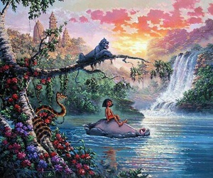 disney, the jungle book, and art image
