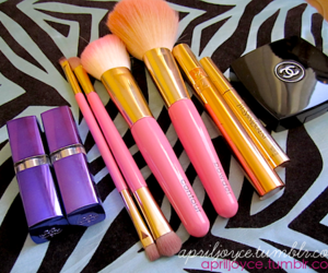 chanel, Brushes, and make up image
