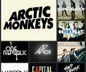 coldplay, one republic, and artic monkeys image