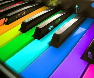 colorful and colorful piano image