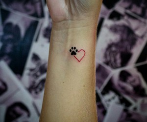 love, tattoo, and dog image