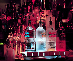 absolut vodka, neon, and pink image