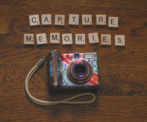 camera, scrabble, and capture memories image