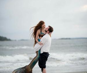 couple and mermaid image