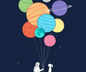 love, planet, and space image