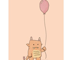 monster, balloon, and little image