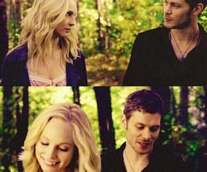 caroline, tvd, and klaus image