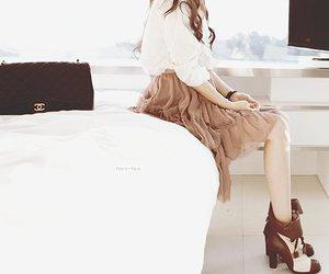 brown, heels, and kawaii image