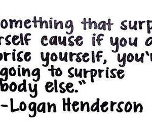 quote, big time rush, and logan henderson image