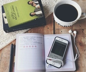 chill, notebook, and tea image