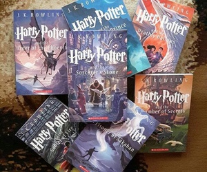 harry potter, jk rowling, and series image