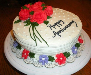 anniversary, celebration, and cake image