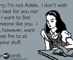 Adele, funny, and quote image