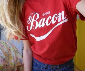 bacon, red, and tumblr quality image