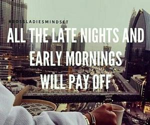 morning, motivation, and night image
