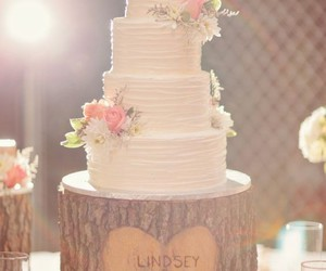 cake, flowers, and light image