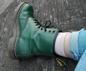 doc martens, green, and pastels image