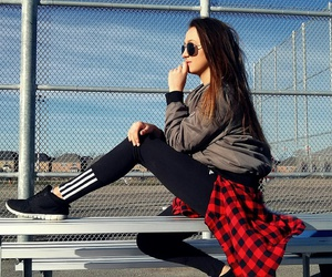 adidas, brunette, and canada image