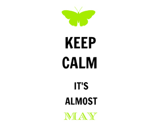 butterfly, green, and keep calm image