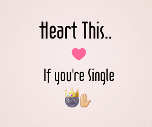 funny, heart, and single image