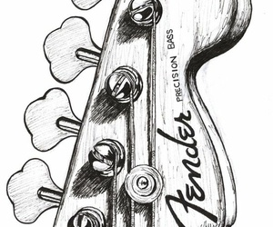 art, drawing, and guittar image
