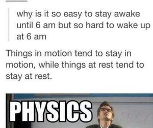 physics, funny, and awesome image
