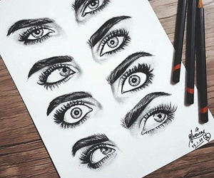 drawing, eyes, and goals image