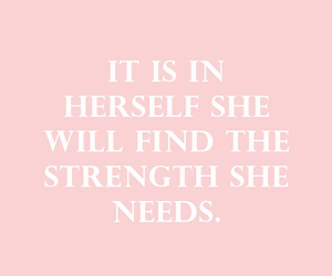 quotes, pink, and strength image