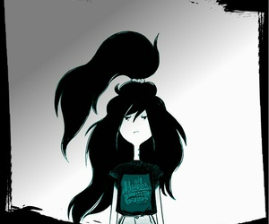 hair, marceline, and adventure time image