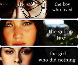 harry potter, twilight, and hunger games image