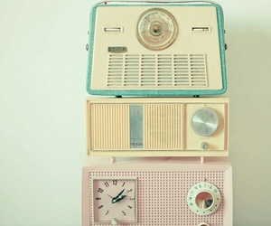 vintage, radio, and pastel image