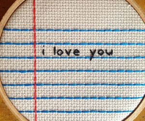 embroidery, I Love You, and love image