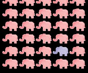 elephant, pink, and purple image