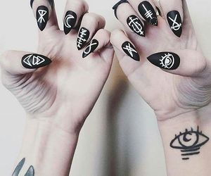 mate, nail art, and runes image