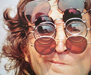 john lennon, glasses, and the beatles image