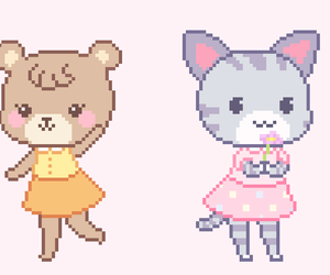animal crossing, pixel art, and new leaf image