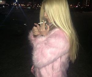 blonde, cigarette, and pastel image