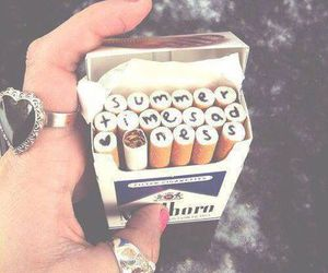 cigarette, summer, and lana del rey image