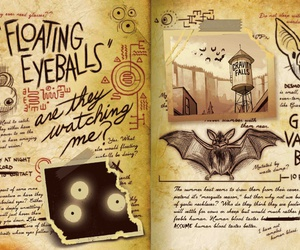 gravity falls and floating eyeballs image
