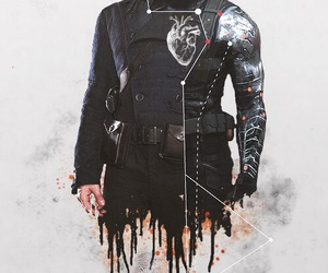 winter soldier, bucky barnes, and captain america image